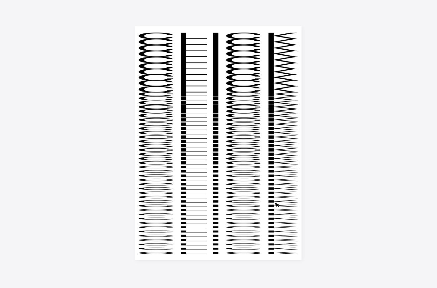 Blank Poster Monitor Christian Johnstone Design Typography