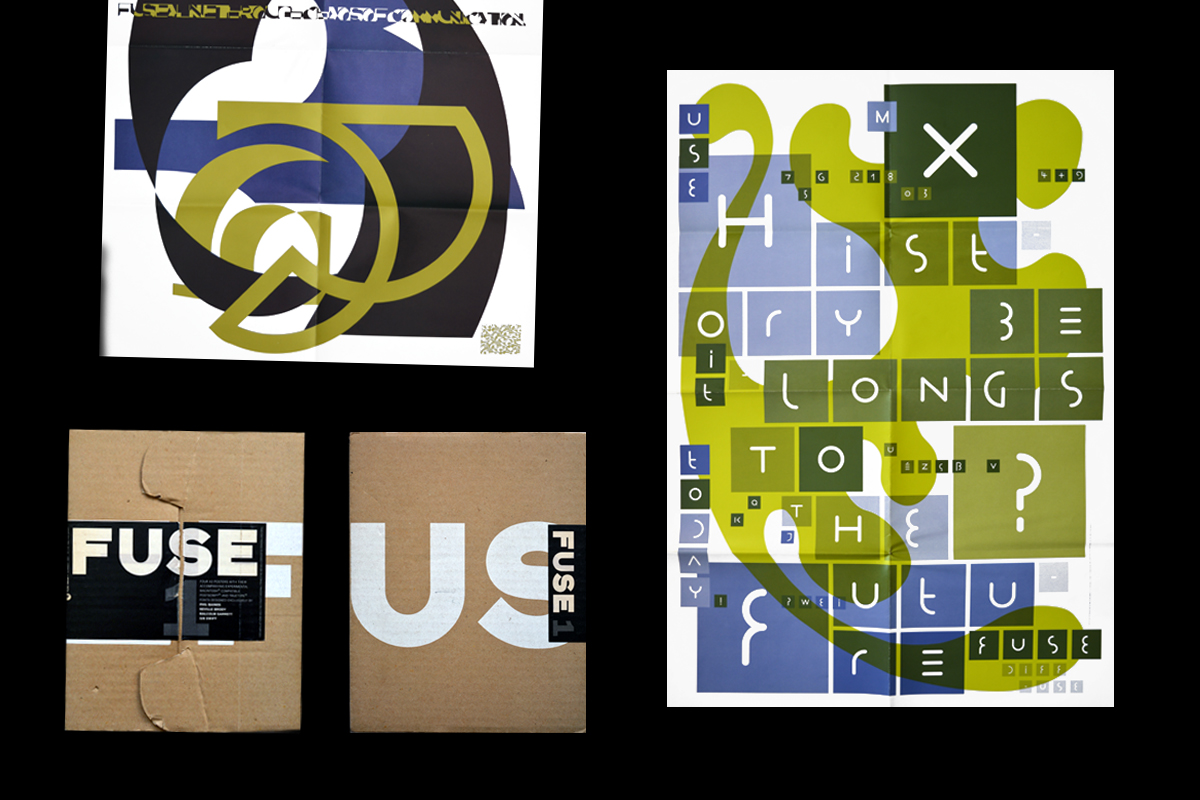 Fuse 1 Neville Brody typography design poster graphic