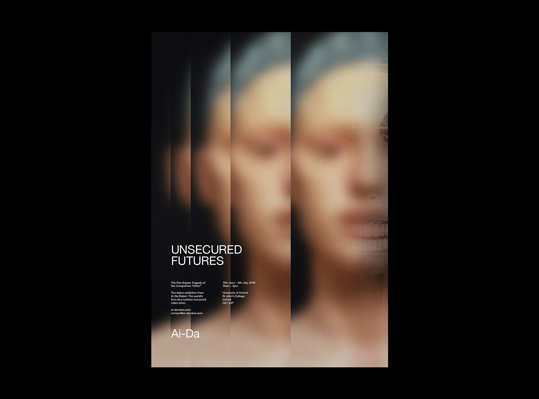 Ai-Da Robot Exhibition Poster