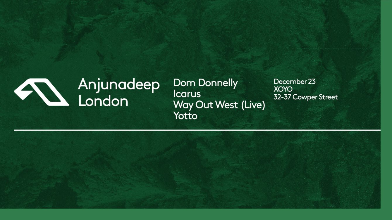 We're excited to be playing the Anjunadeep Xmas event at XOYO on 23rd December! Grab your tickets  here.