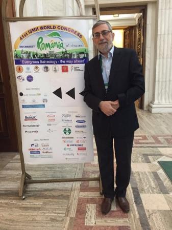 Dr. Harari på kongressenteret i Bucuresti