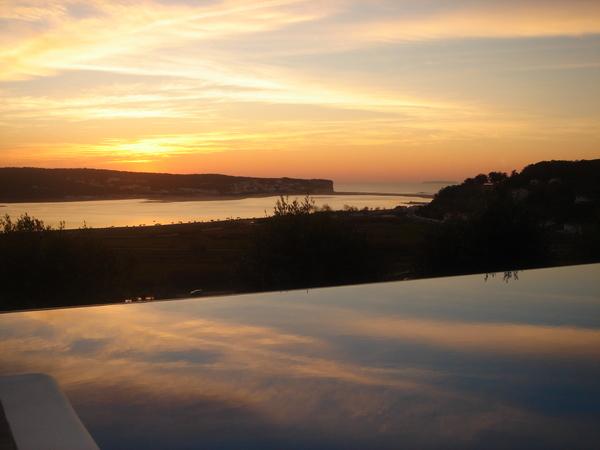 sunset at pool.JPG