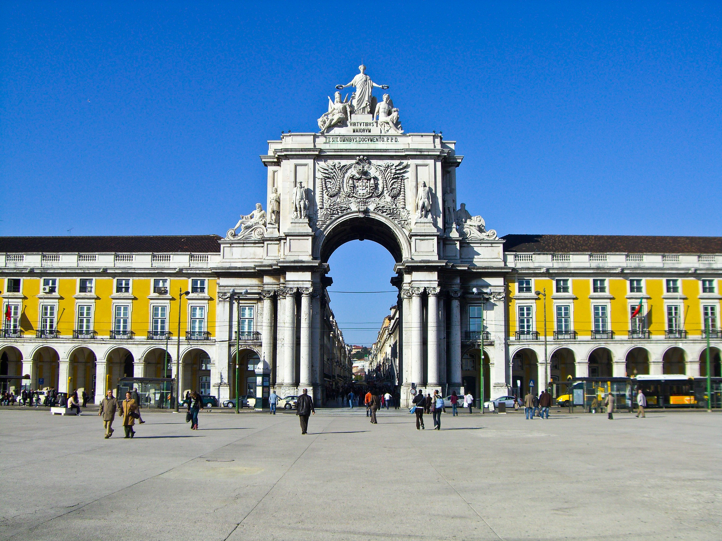 La Praça do Commercial en el centro de Lisboa