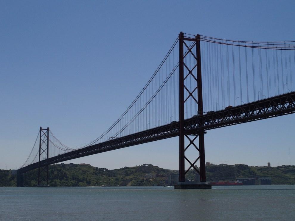 Le Pont du 25 avril à Lisbonne.