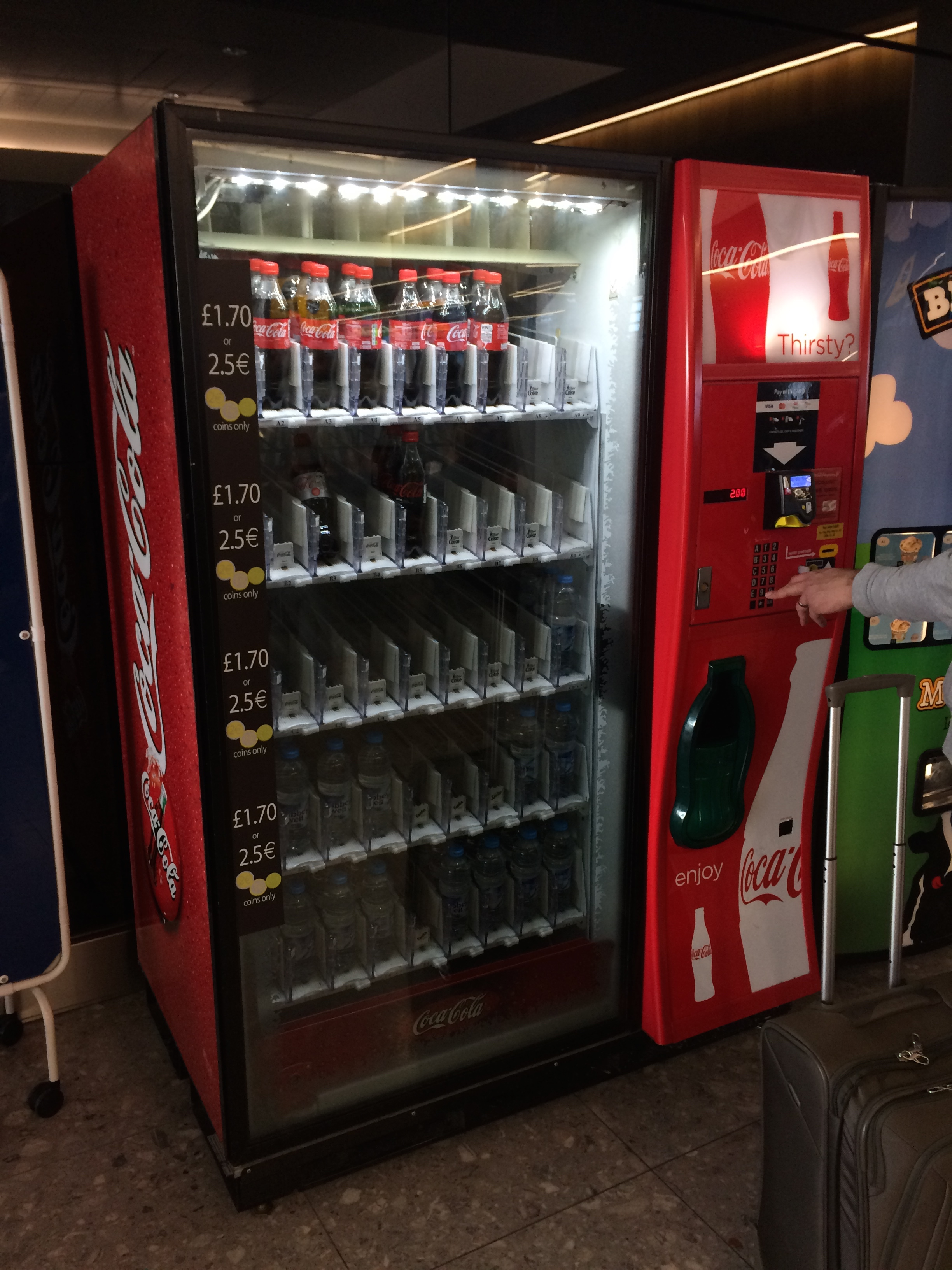 With a smile I passed this drink vending machine…Coca-Cola is really omnipresent! :)