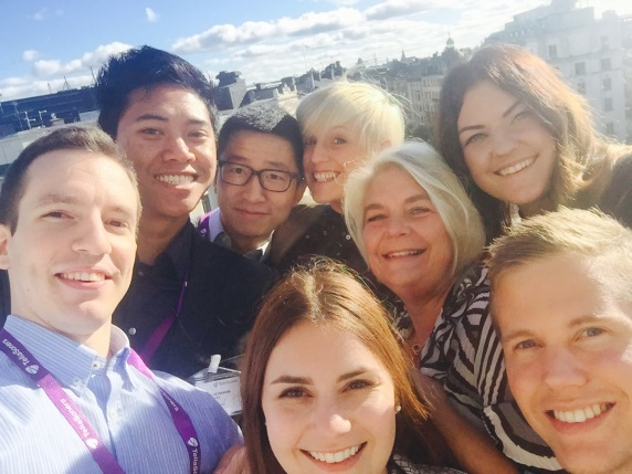 Here we are, all DareTrainees and myself, in the first group selfie on our top floor at the head office.