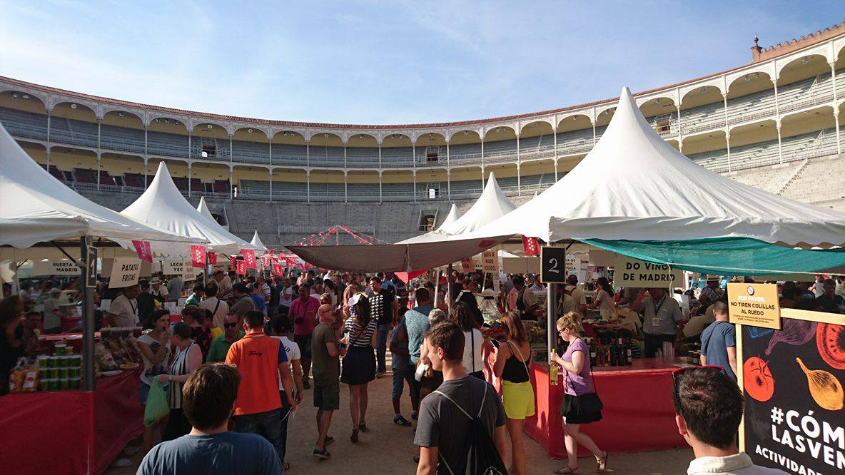 Local food fair at the bullfight arena