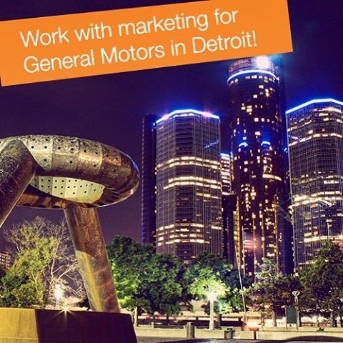 Marketing talent, General Motors @gmcareers  is looking for you! Will you be the champion starting in their amazing headquarters in Detroit coming summer? #internship #careerboost #achieve #dream #blindapplying #marketing #detroit #michigan #usa