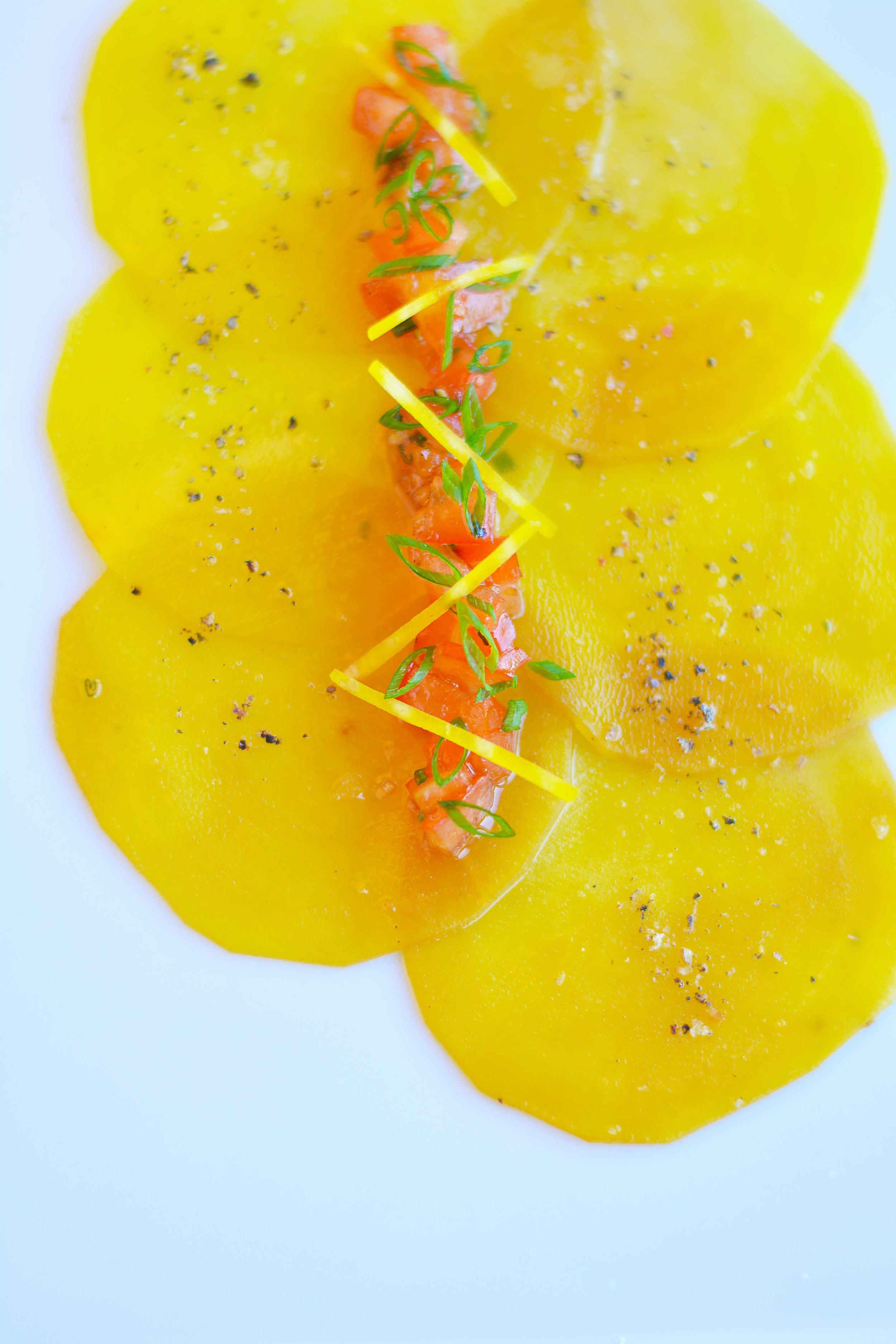 Carpacio betteraves jaunes, Marleau, 61.jpg