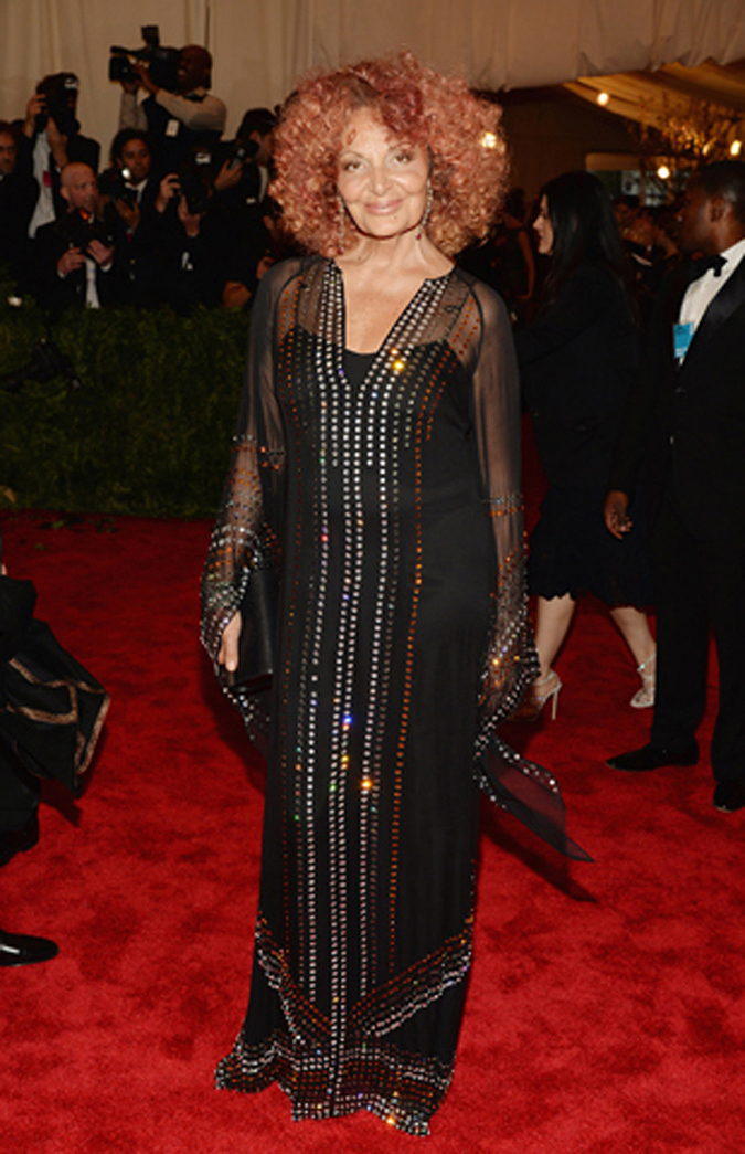 And the winner is...Diane von Furstenberg. What is more punk than showing up to a punk event wearing disco?