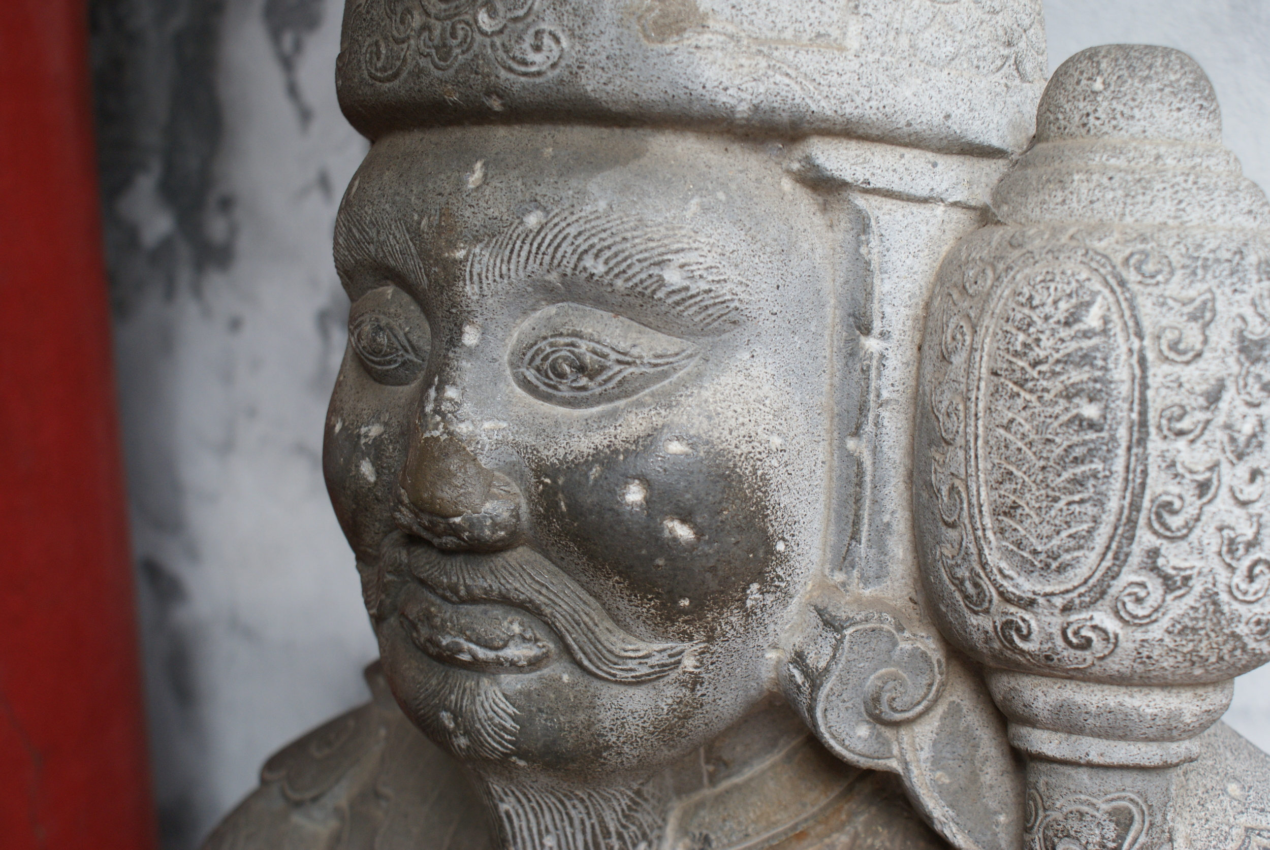 A warrior at the Temple of Literature.