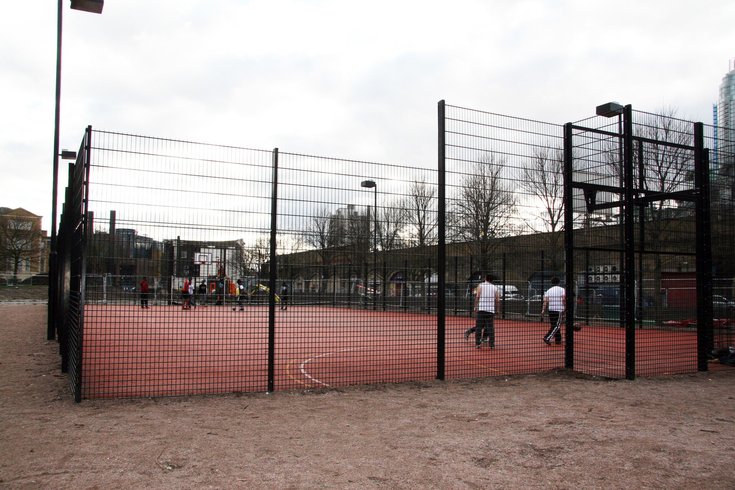 The Multi Use Games Area (MUGA) which opened in 2010