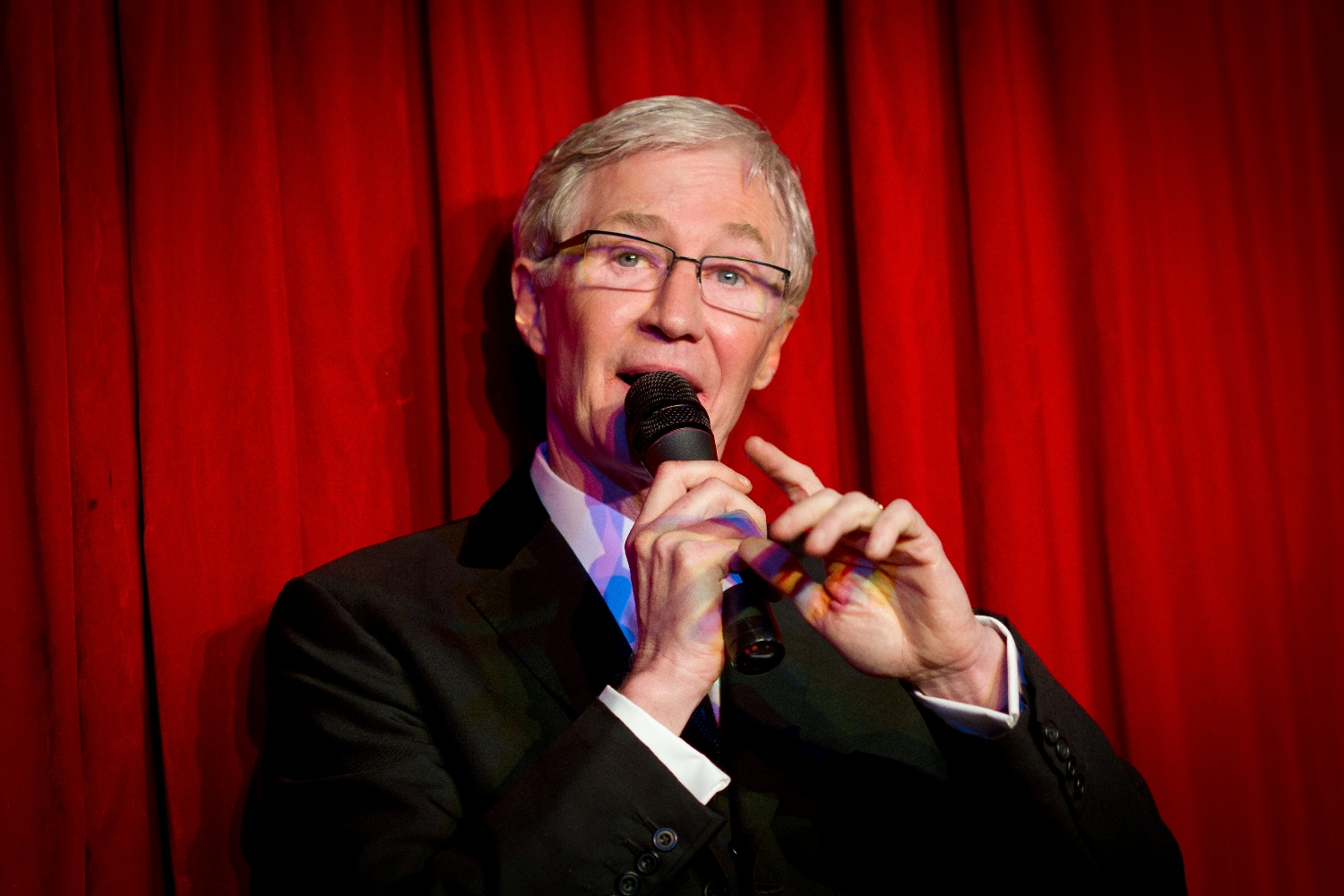 Mr Paul O'Grady at the RVT at the opening of the new entrance and re-naming ceremony on 16 February 2012