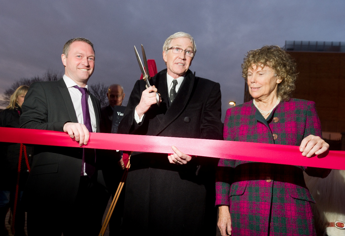 From left to right: Councillor Morgan, Mr Paul O'Grady and MP Kate Hoey at the opening of the new entrance and re-naming ceremony on 16 February 2012