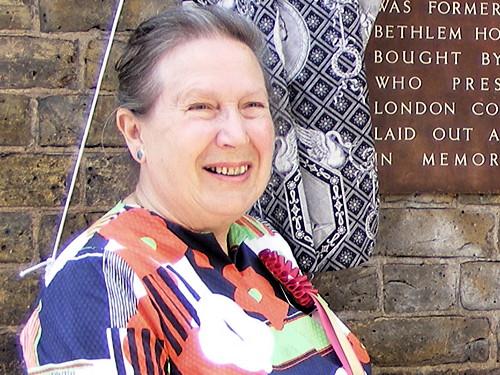 Maureen Johnston in 2009 atGeraldine Mary Harmsworth Park