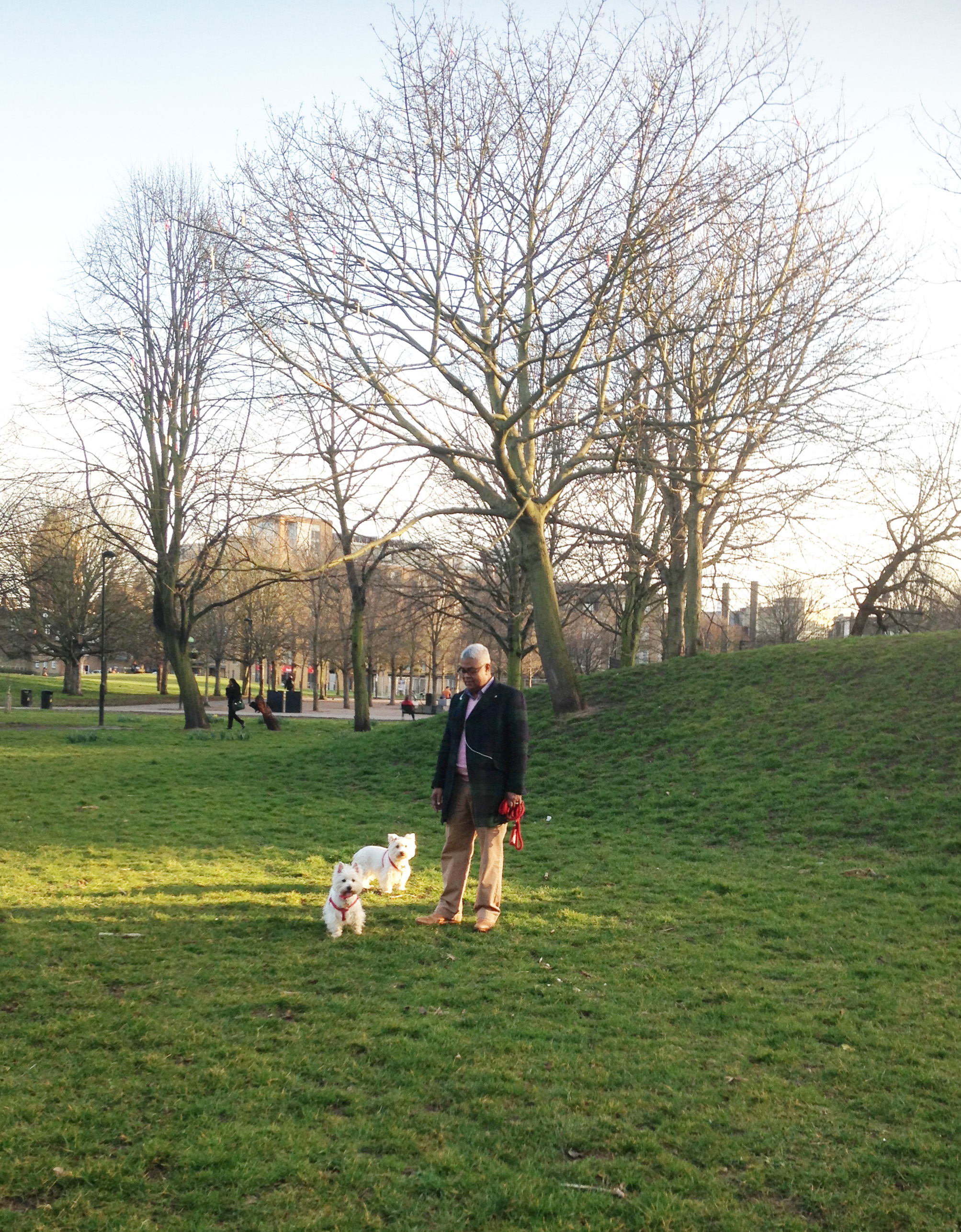 Maggie and Molly with their owner William