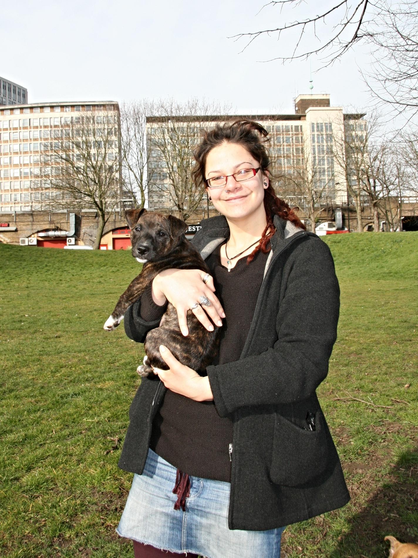 Gem with her puppy Louie