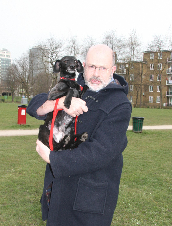 Bertie with owner John