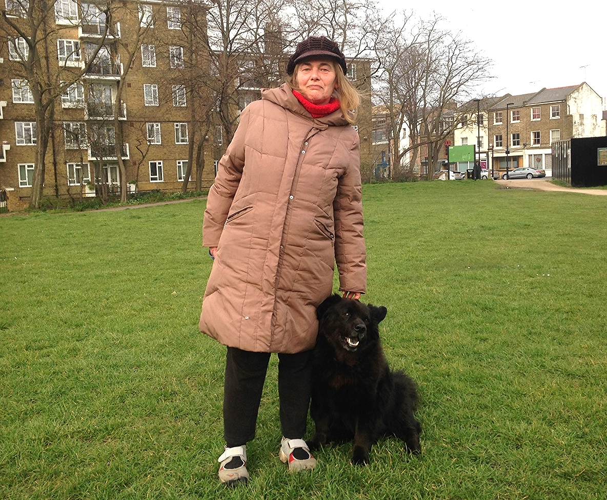 Czar with his owner Linda, two absolute regulars in the Gardens