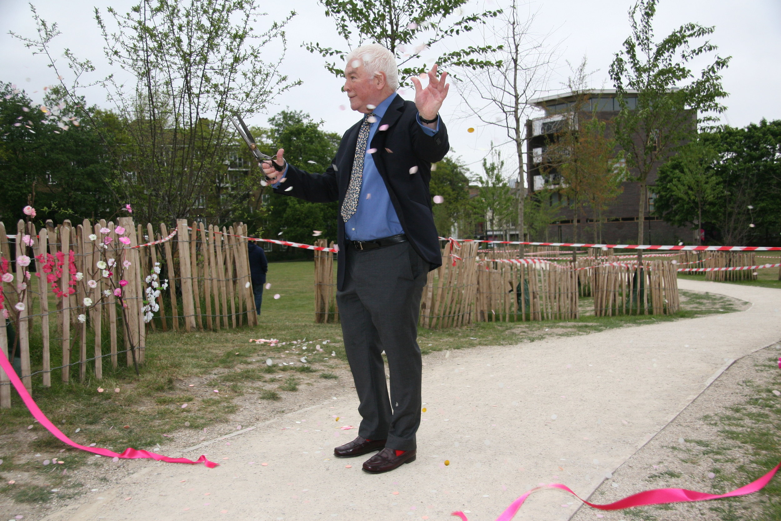 The deed is done: The Vauxhall Pleasure Gardens Cherry Walk is officially open!