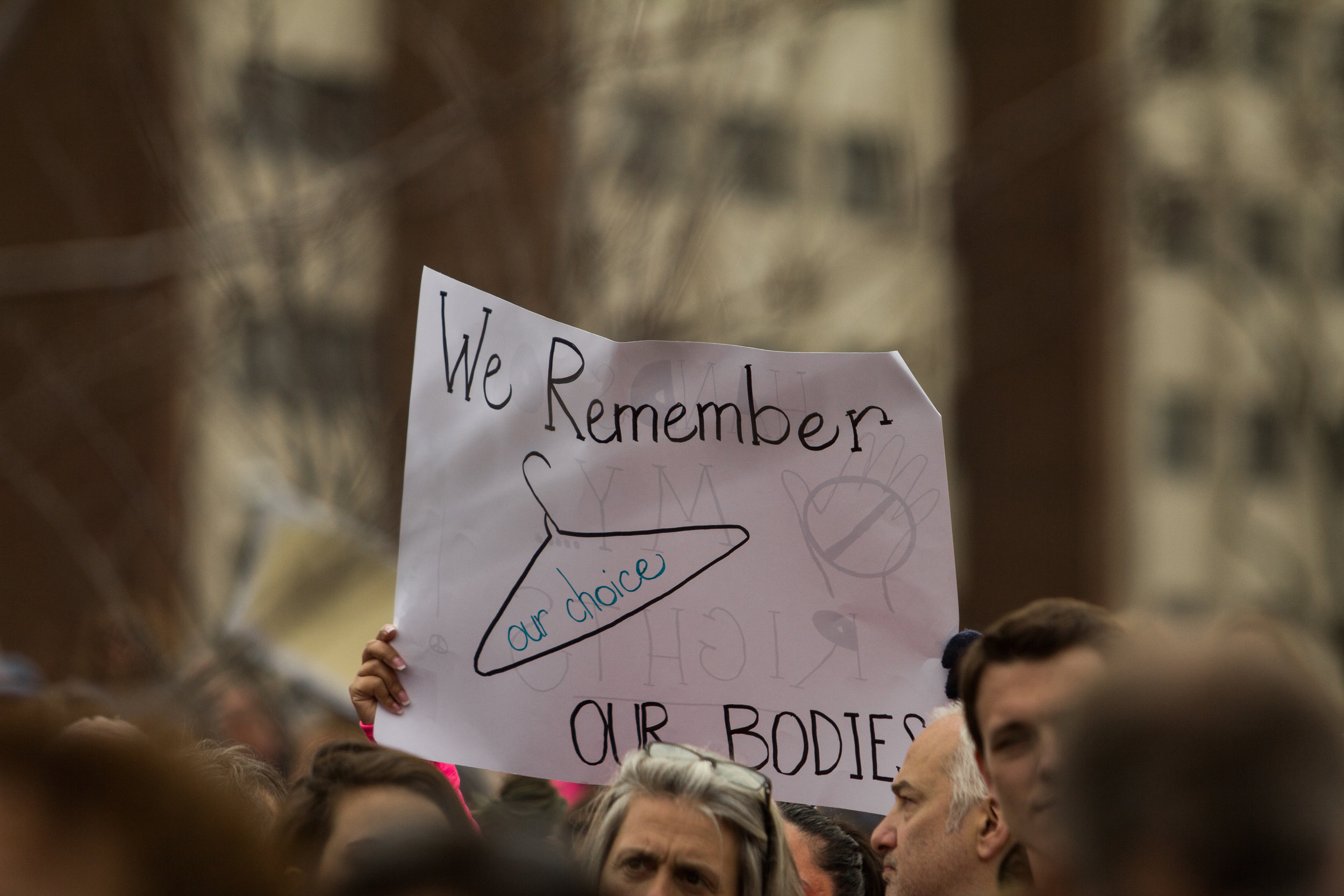 "Stamford, Connecticut - January 21st, 2017: ""We Remember, our choice, our bodies."""