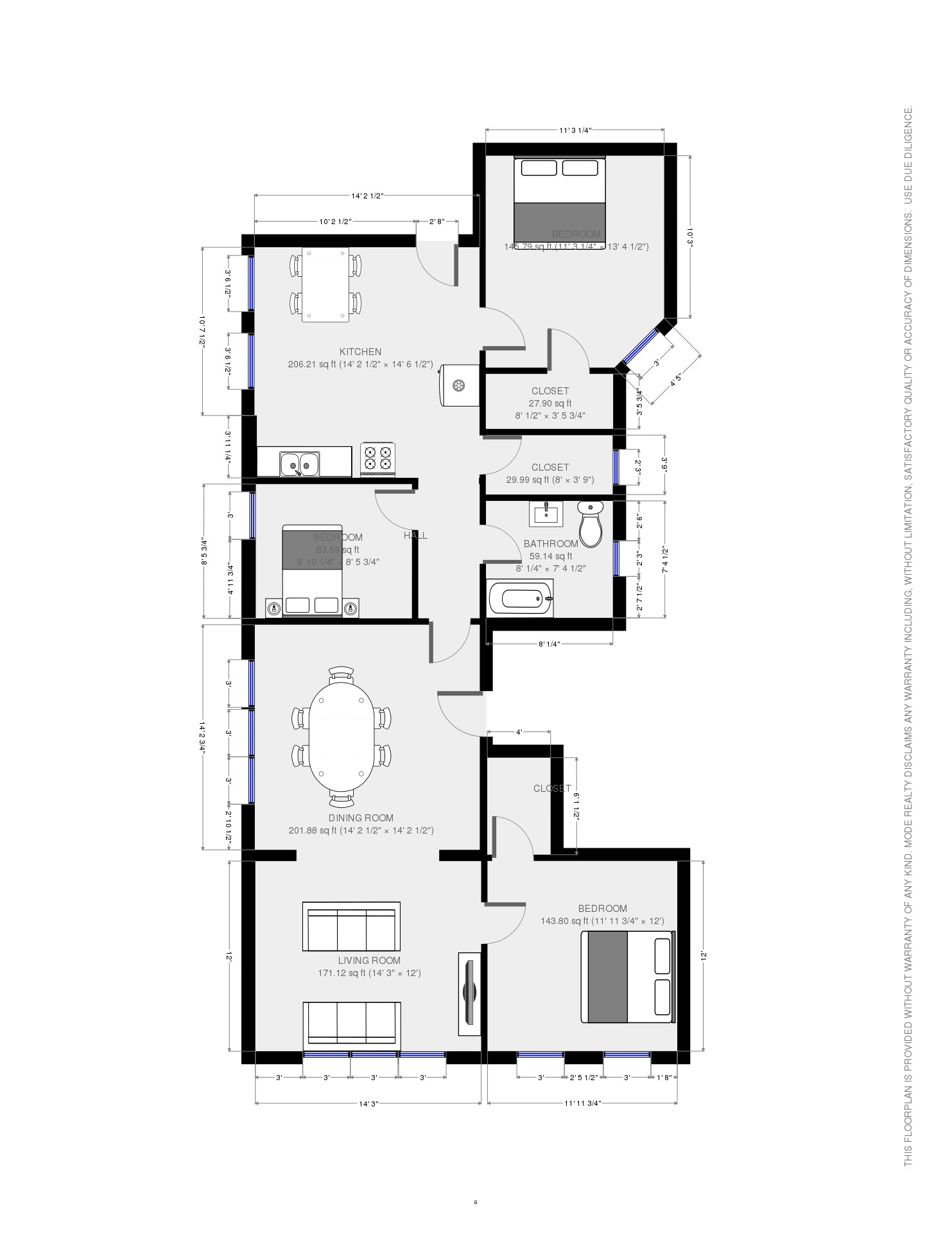 2F Plan thise are King size beds in the 2 bedrooms (BIG BEDROOMS)
