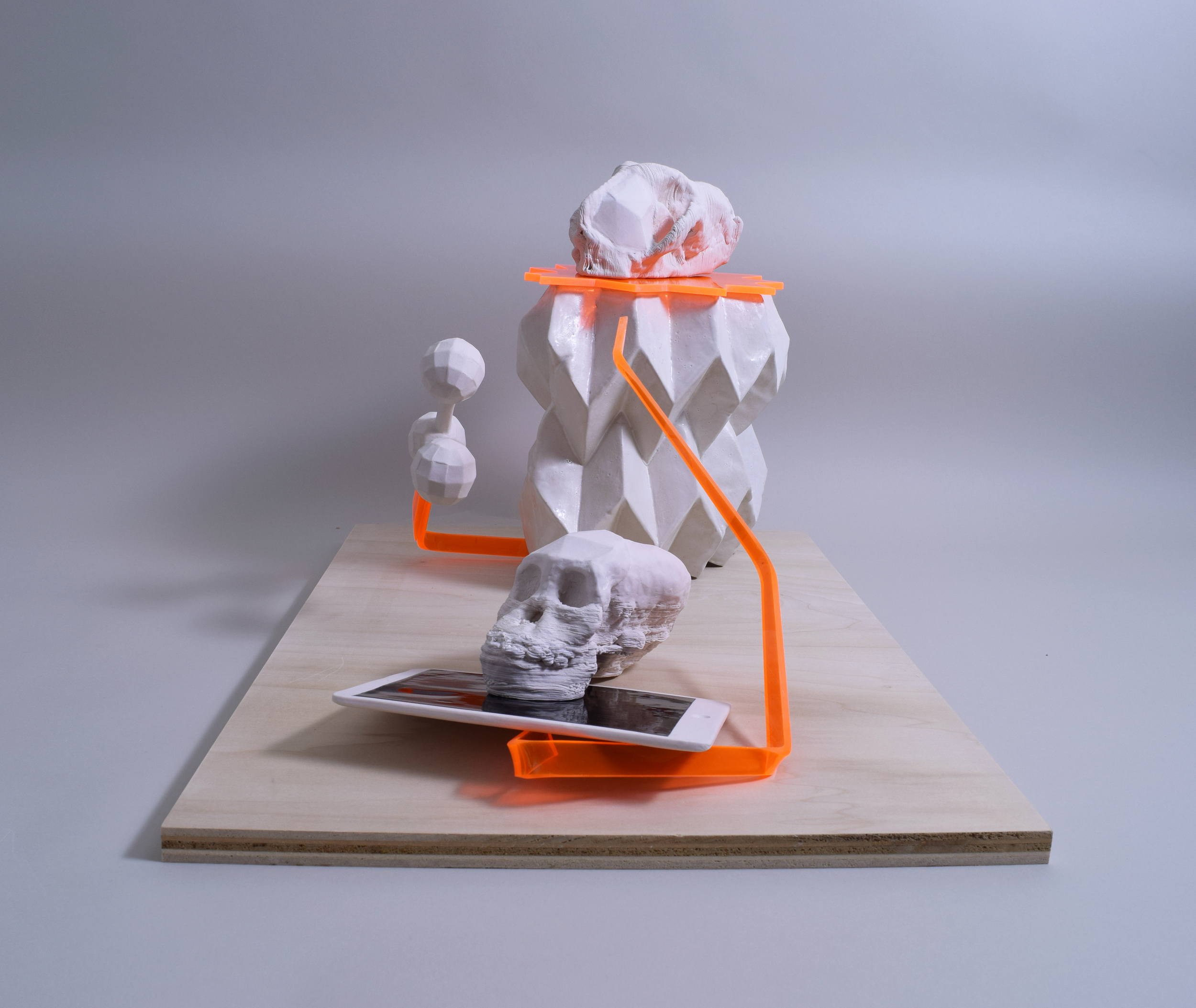 Composition with Skulls (side view)