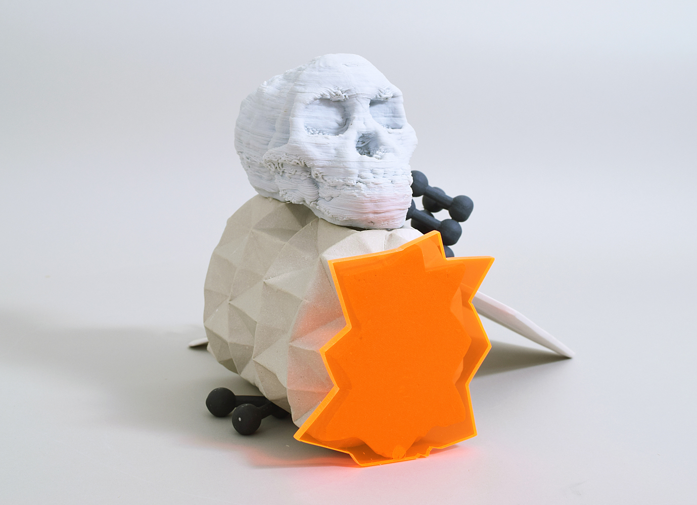 Composition with Skull and Daffodil (side view)