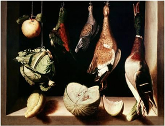 """1600 to 1603,  """"Still Life with Game Fowl"""""""