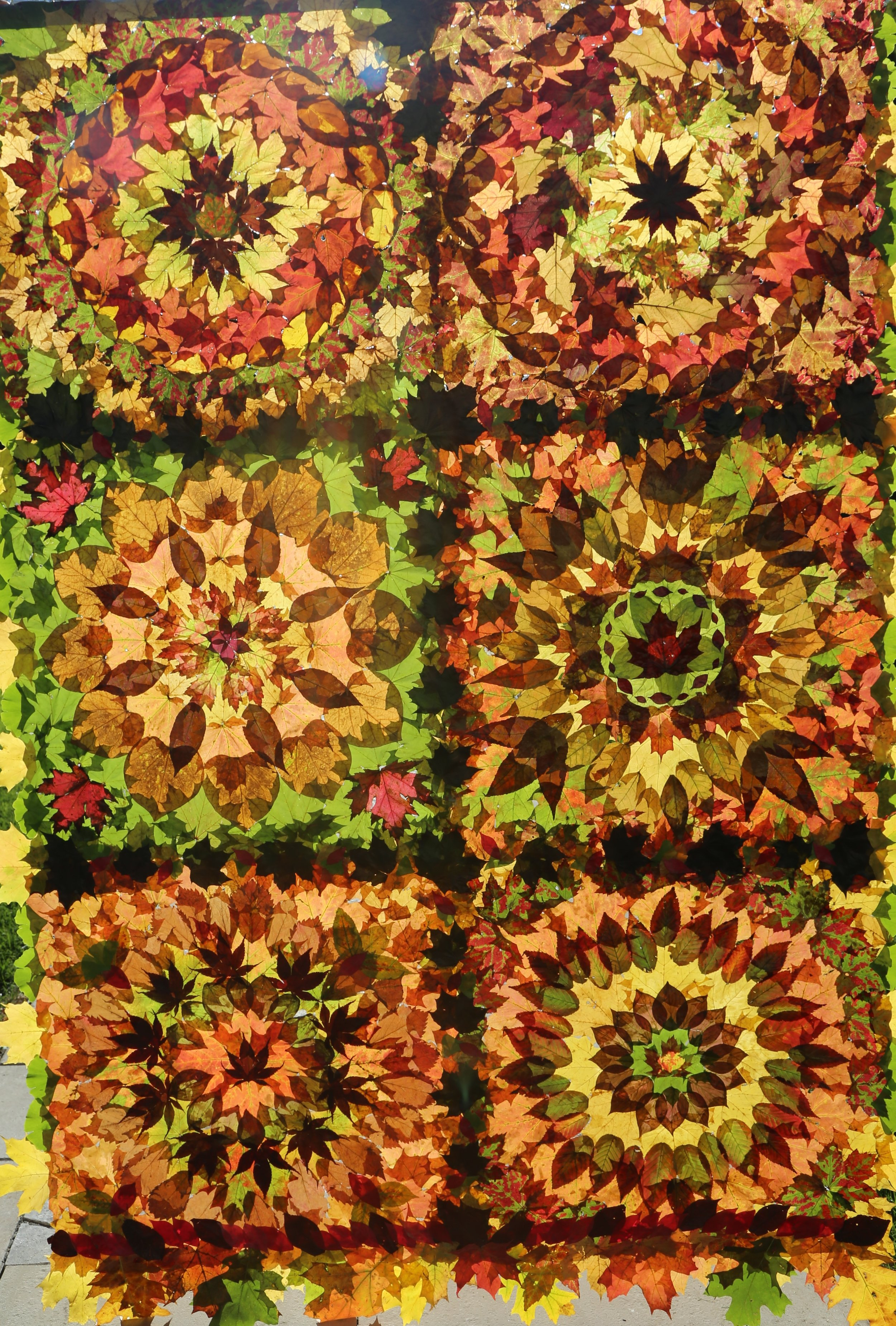 Leaf quilt by Nancy Zimmerman
