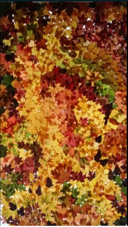 Random Pattern Leaf Quilt by Nancy Zimmerman