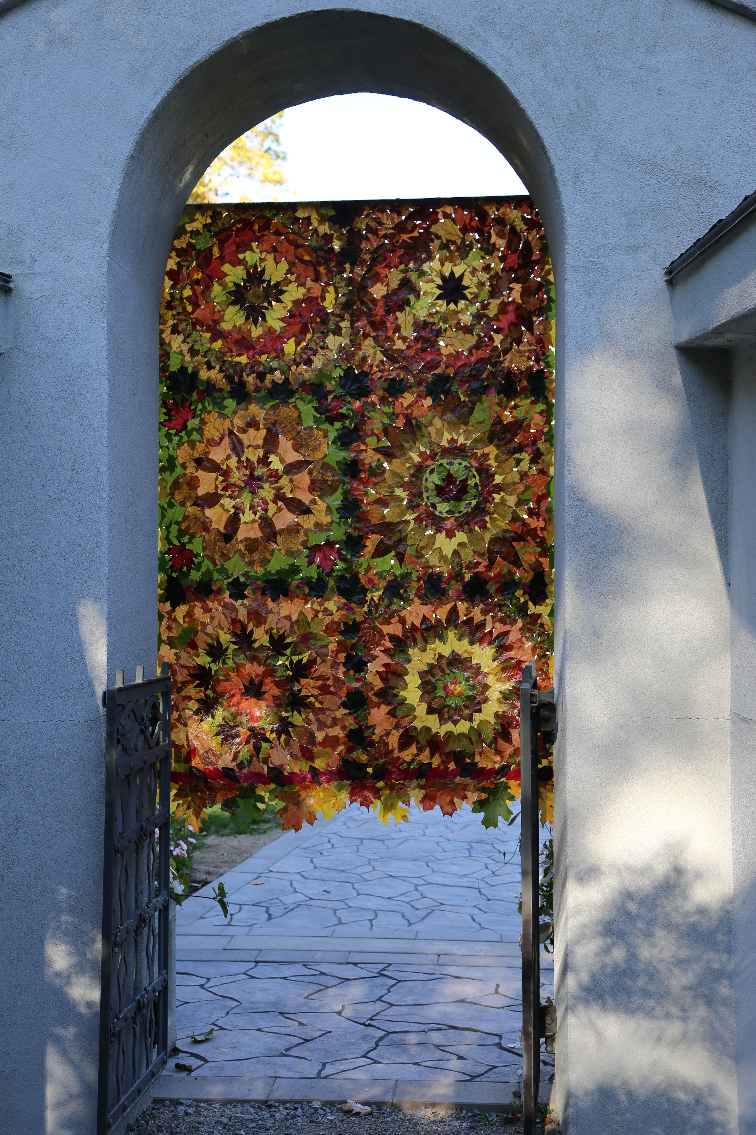 Leaf Quilt in Garden Gate by Nancy Zimmerman