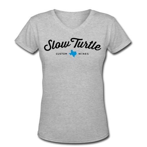 women-s-slow-turtle-logo-women-s-v-neck-t-shirt-2.jpg