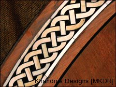 Ivory Inlay part of a massive wood table @ Jed Johnson & Associates