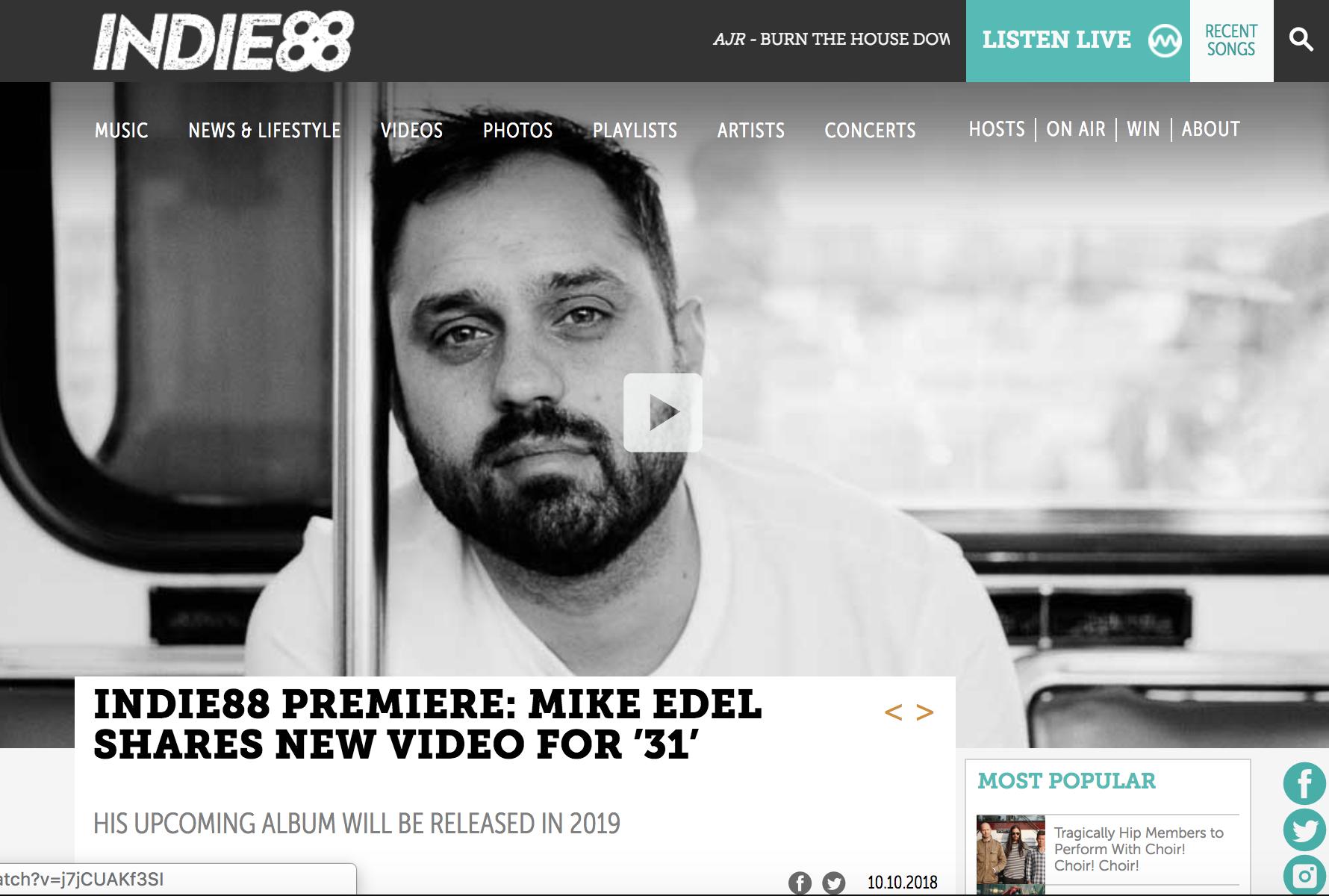 indie 88 mike edel