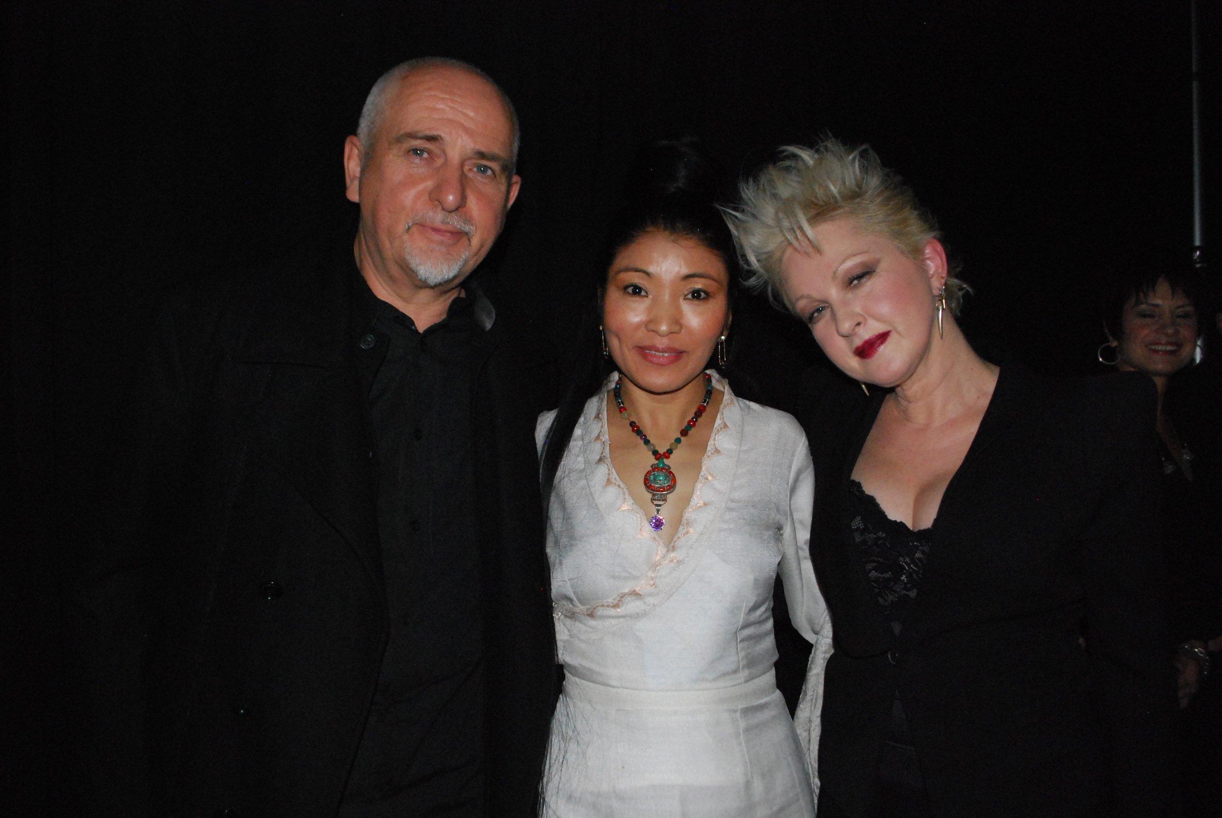 Yungchen Peter Gabriel & Cyndi Luper.jpg