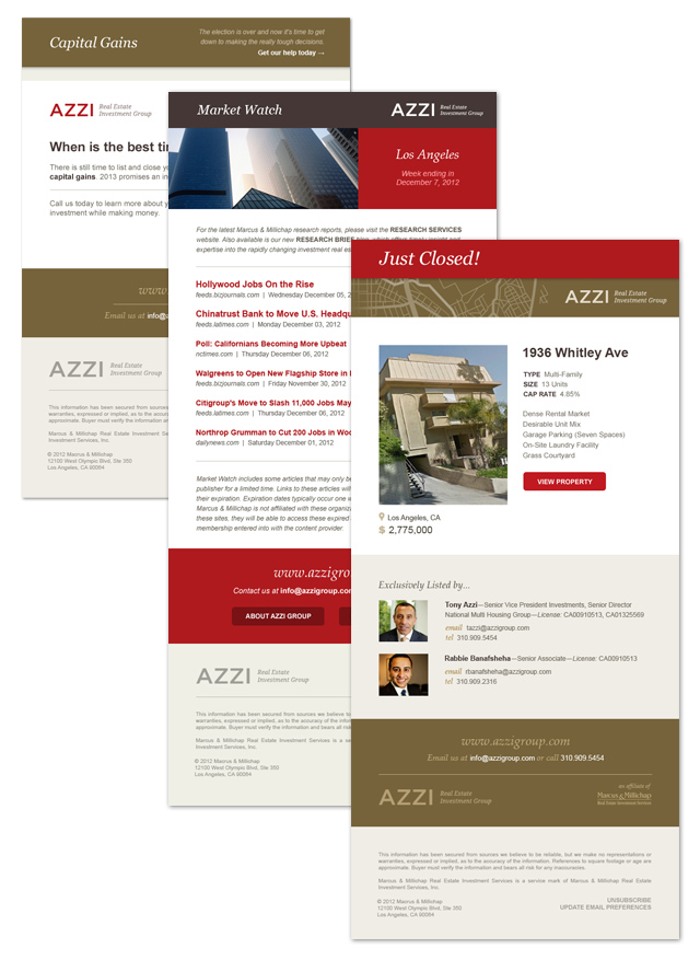 Email Templates  / All designed and programmed to be editable in Mailchimp.