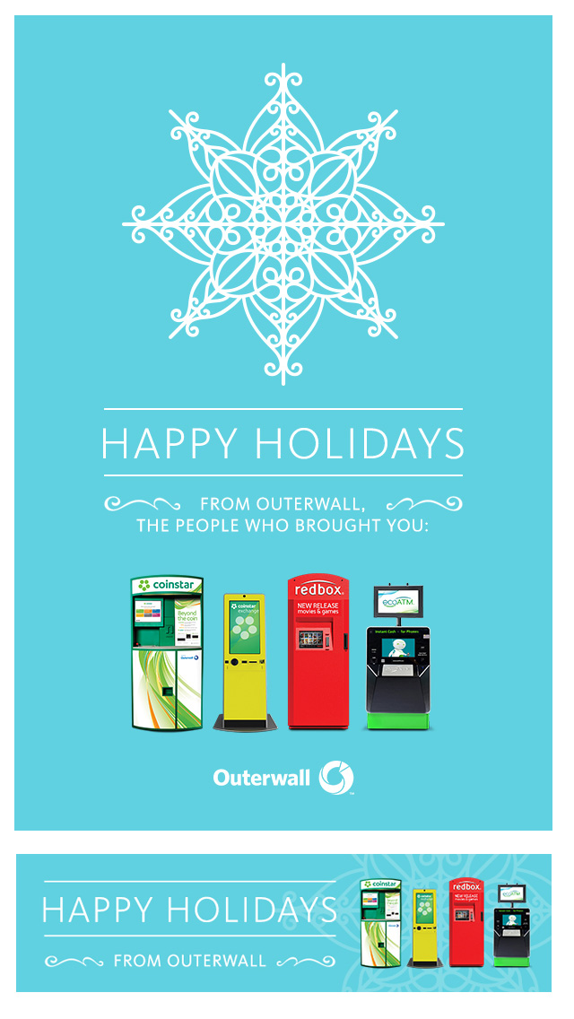Holiday Card  / Outerwall employees can choose to mail out a greeting card or insert the image in their email.