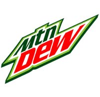 Mountain Dew citrus flavored drinks featuring, Dew Shine, Caffeine Free Mountain Dew, Diet Mountain Dew, Code Red, Voltage, and Mountain Dew Throwback made with Real Sugar.