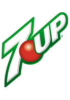 7UP carbonated drinks as well as Cherry 7UP, Diet 7 Up, and Lemon Lime Seven Up.
