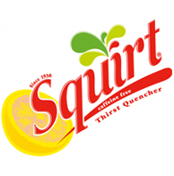 Squirt, Diet Squirt, and Ruby Red Squirt soda flavors.