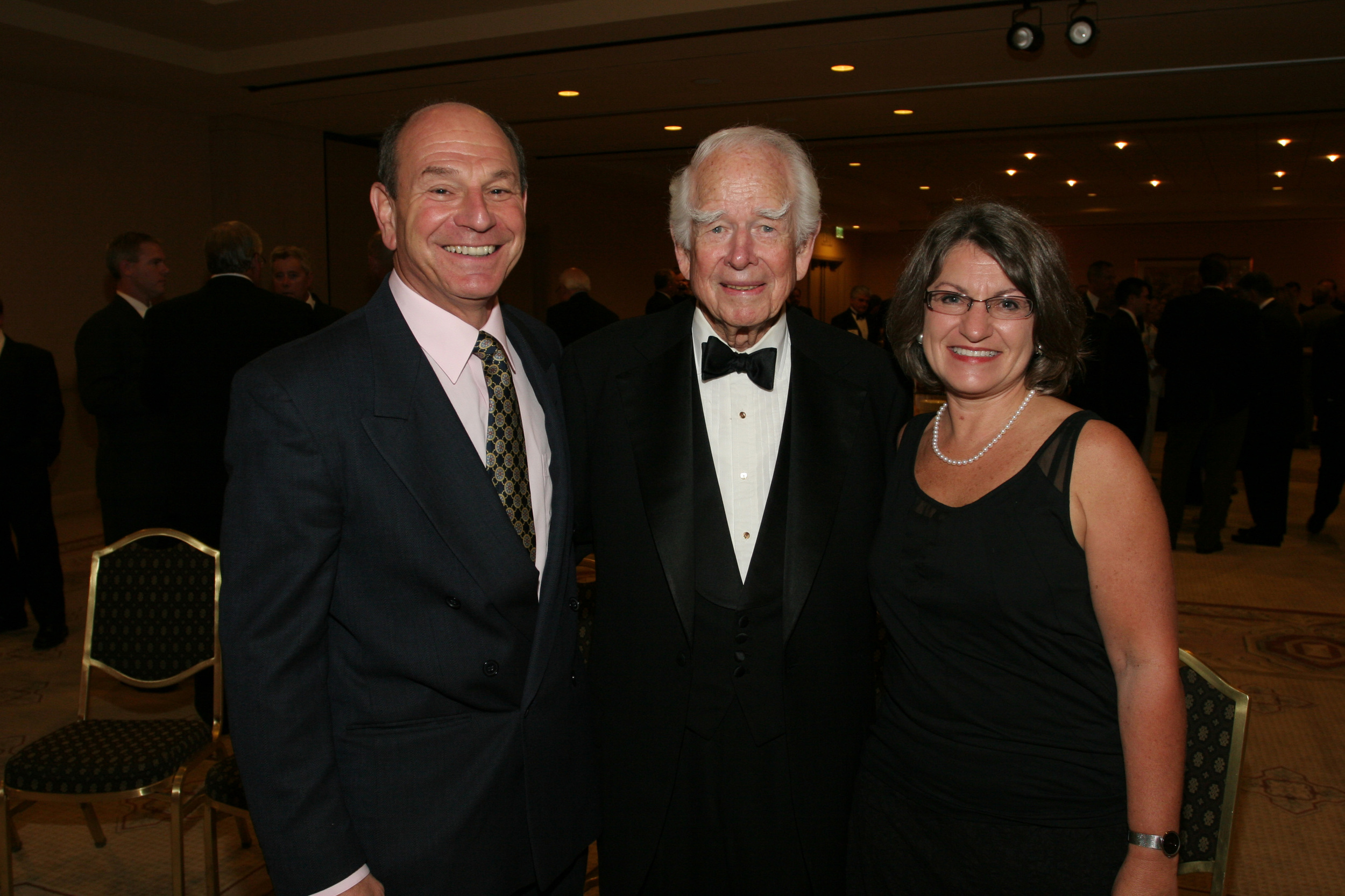 Pat Weinstein, Don Kendall (former CEO of Pepsi Cola), and Susan Landon at the annual Bottler of the Year nominations ceremony.