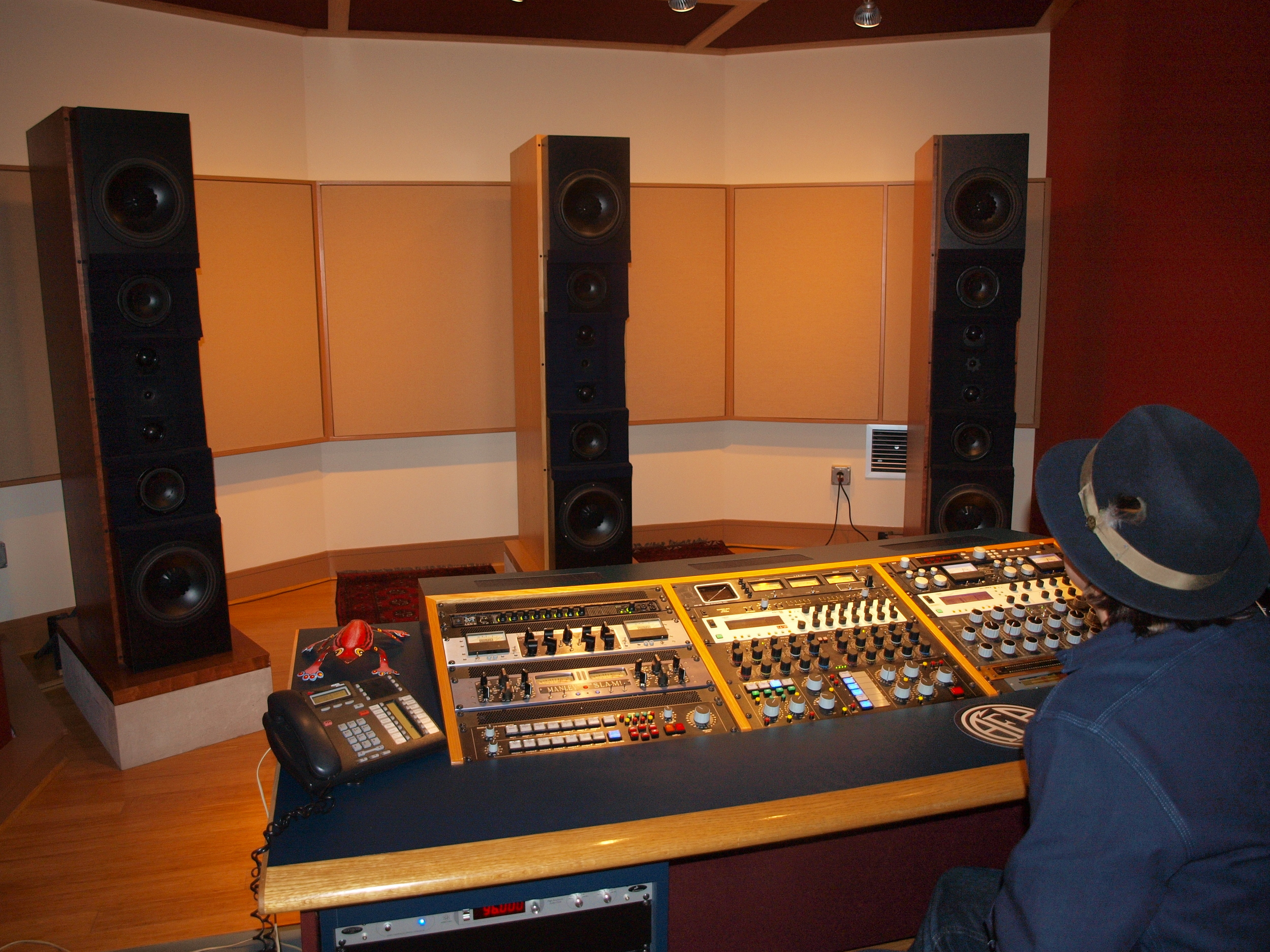 Checking out the mix