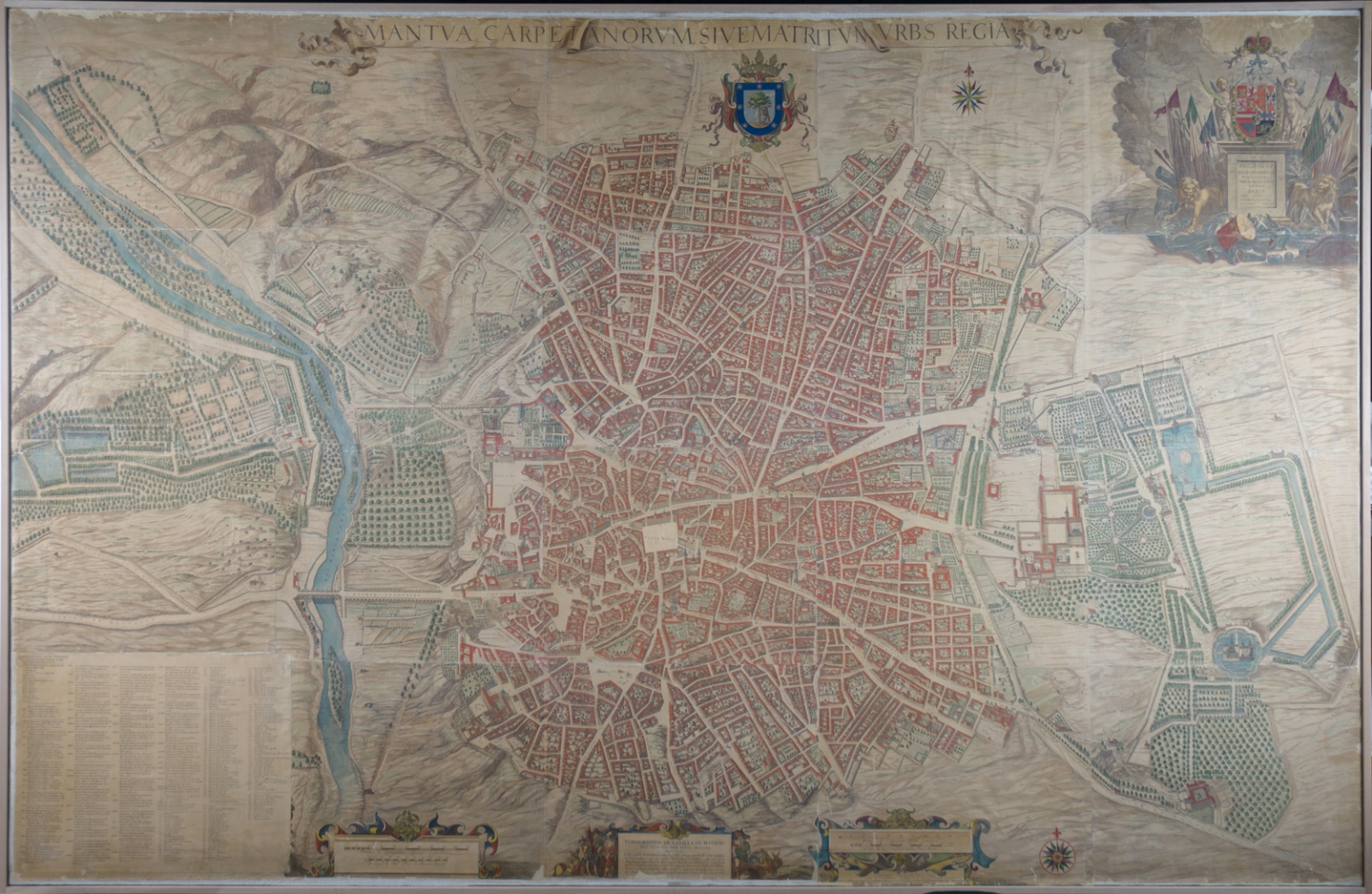 Map of Madrid by Pedro Texeira, 1656