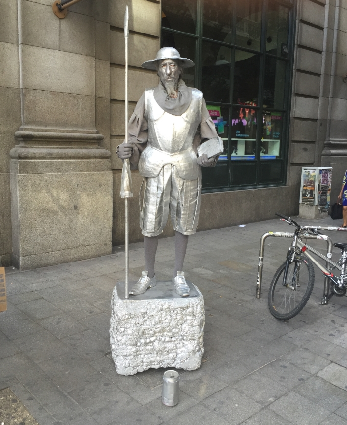 Don Quixote on the Calle de Fuencarral