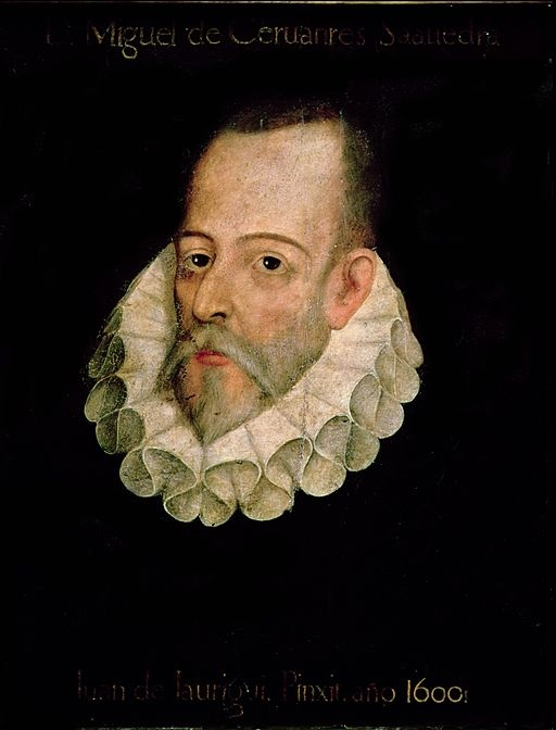 Miguel de Cervantes, attributed to Juan de Jauregui y Aguilar. No contemporary portraits of the author exist.