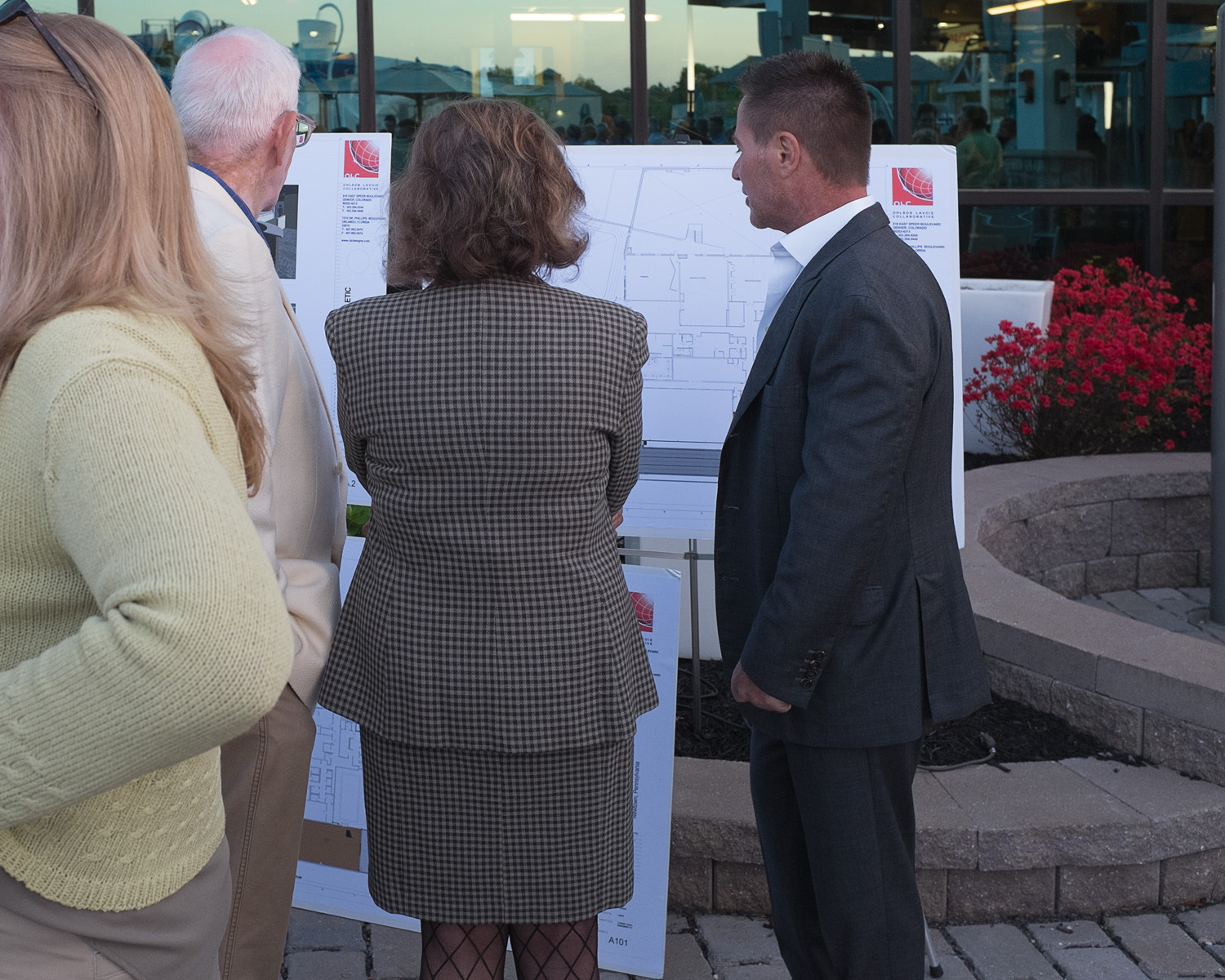 """At the """"Breaking Boundaries"""" display; Jim Worthington (right), the co-owner and president of NAC - the man behind the project"""