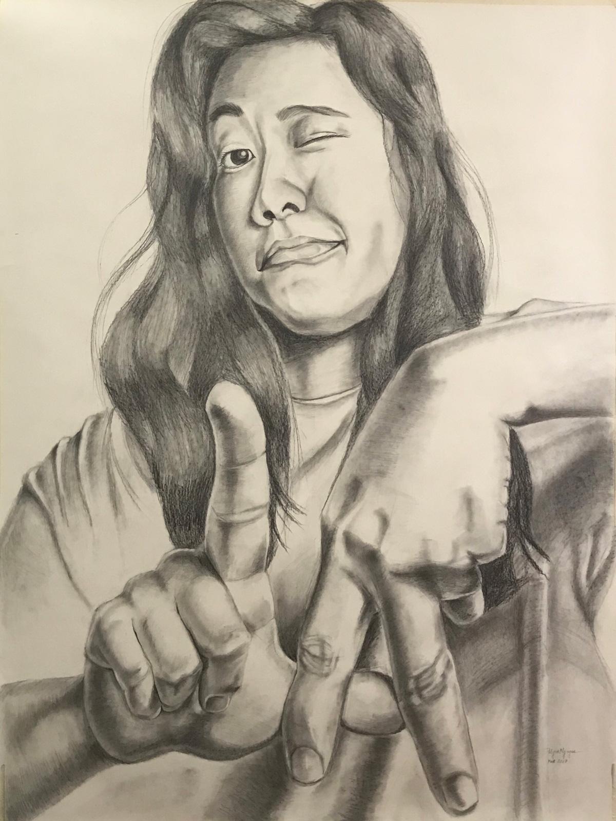 """Uyen Nguyen  LA Girl , 2017, 36"""" x 48"""""""