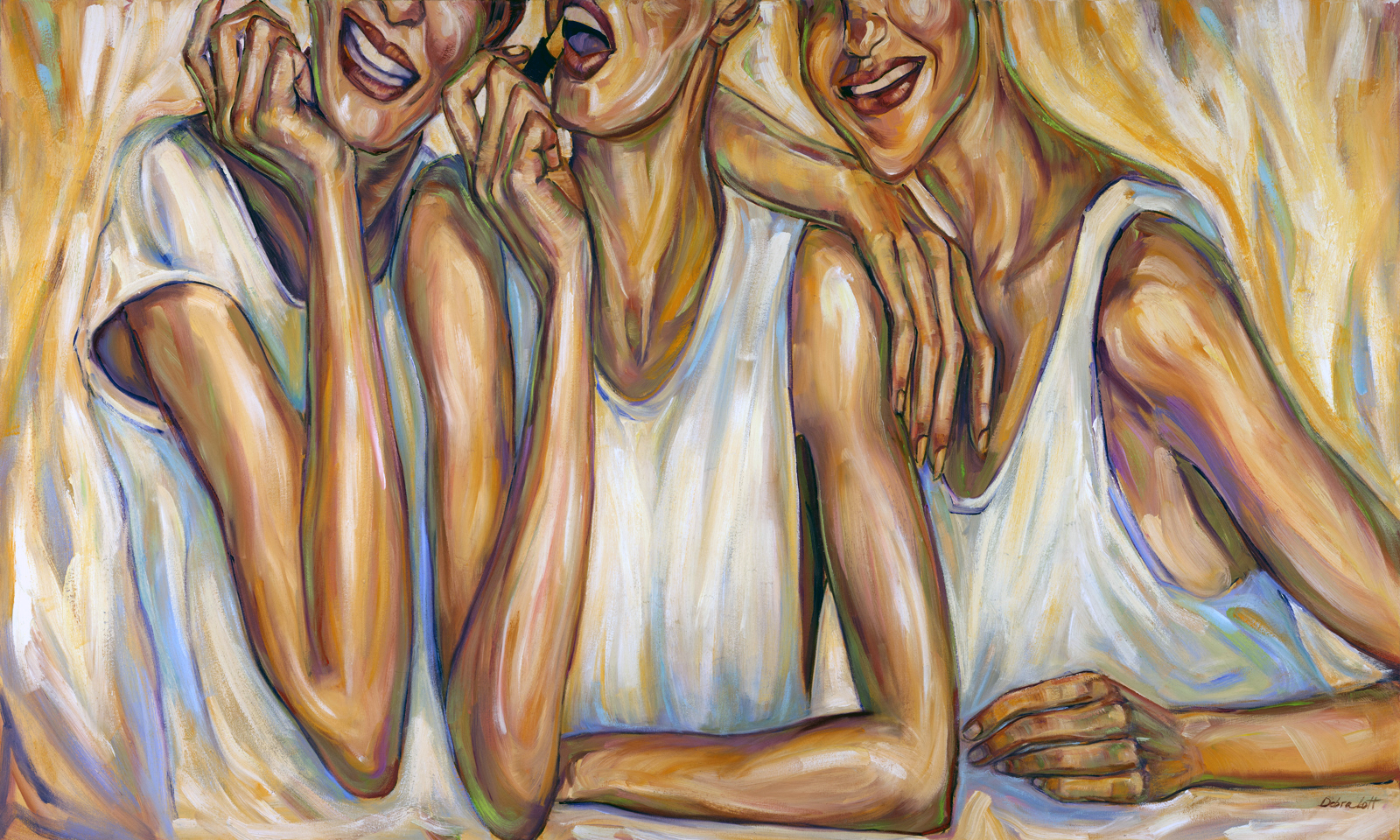 Debra Lott,  At Arms Length,  60x36, Oil on Canvas (photographer of art work: Ron Perrin)