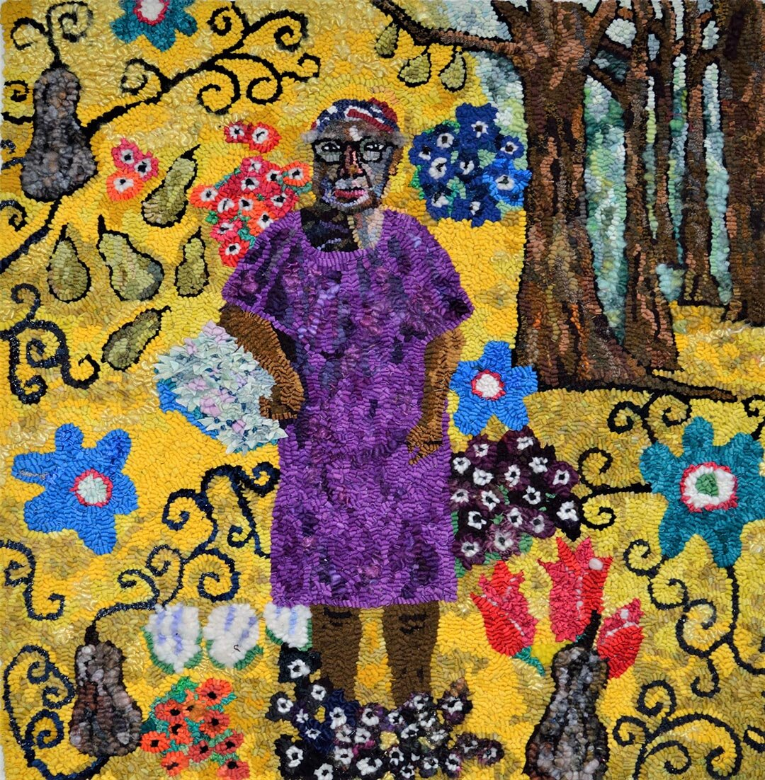 Mary Tooley Parker  Sue Willie Seltzer, Gee's Bend Quilter, in Klimt